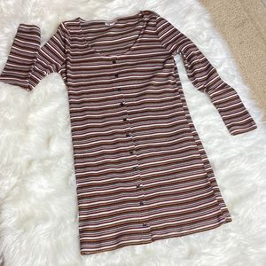 TopShop striped swoop neck dress Size 12